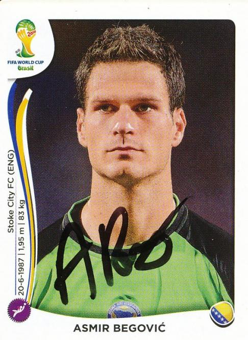 Asmir Begovic   Bosnien  WM 2014 Panini Sticker - 10549