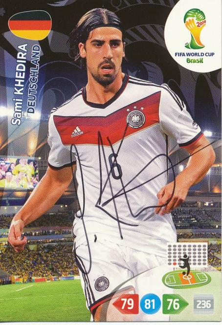 Sami Khedira   DFB  Panini WM 2014 Adrenalyn Card - 10651