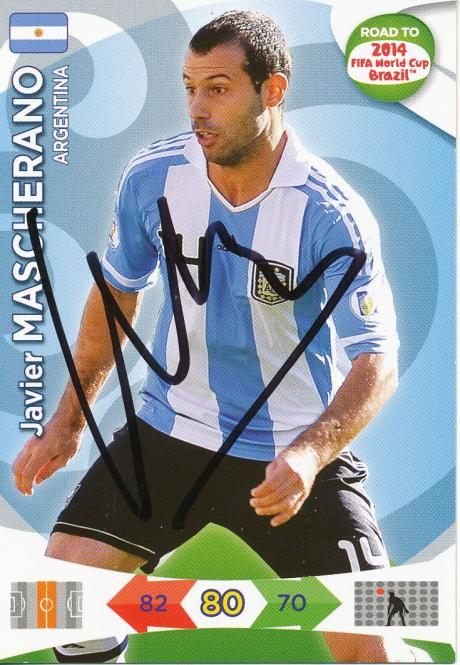 Javier Mascherano  Argentinien  Panini Road to WM 2014  Card - 10659