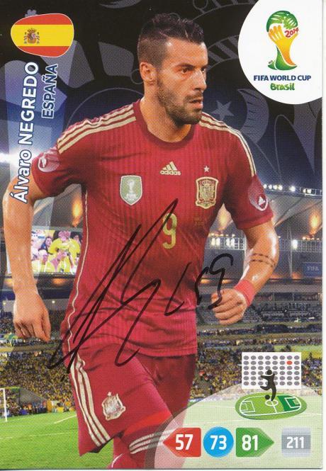 Alvaro Negredo   Spanien  Panini WM 2014 Adrenalyn Card - 10678