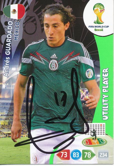 Andres Guardado  Mexico  Panini WM 2014 Adrenalyn Card - 10747