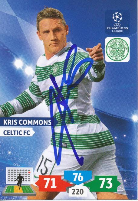 Kris Commons  Celtic Glasgow  Panini CL 2013/2014 Card - 10763