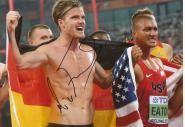 Rico Freimuth  GER  Zehnkampf  3. WM 2015   Leichtathletik original signiert