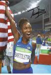 Tianna Bartoletta  USA  Weitsprung  1.OS  2016  Leichtathletik original signiert