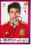Javi Martinez   Spanien  EM 2012  Panini Sticker - 10271