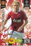 Paul Scholes   Manchester United  Panini CL Adrenalyn 2010/2011 Card- 10480