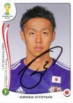 Hiroshi Kiyotake  Japan  Panini Sticker WM 2014 mit Unterschrift - 230059