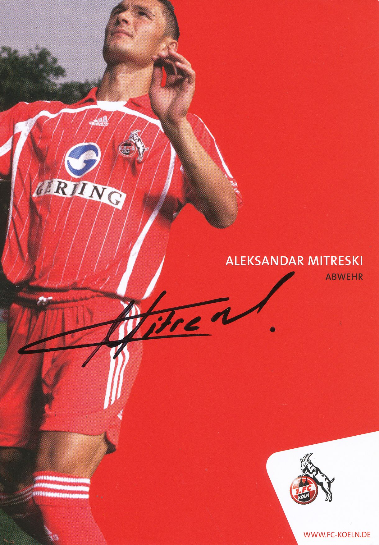 A 160294 Manasseh Ishiaku Autogrammkarte 1 FC Köln 2009-10 Orignal Signiert