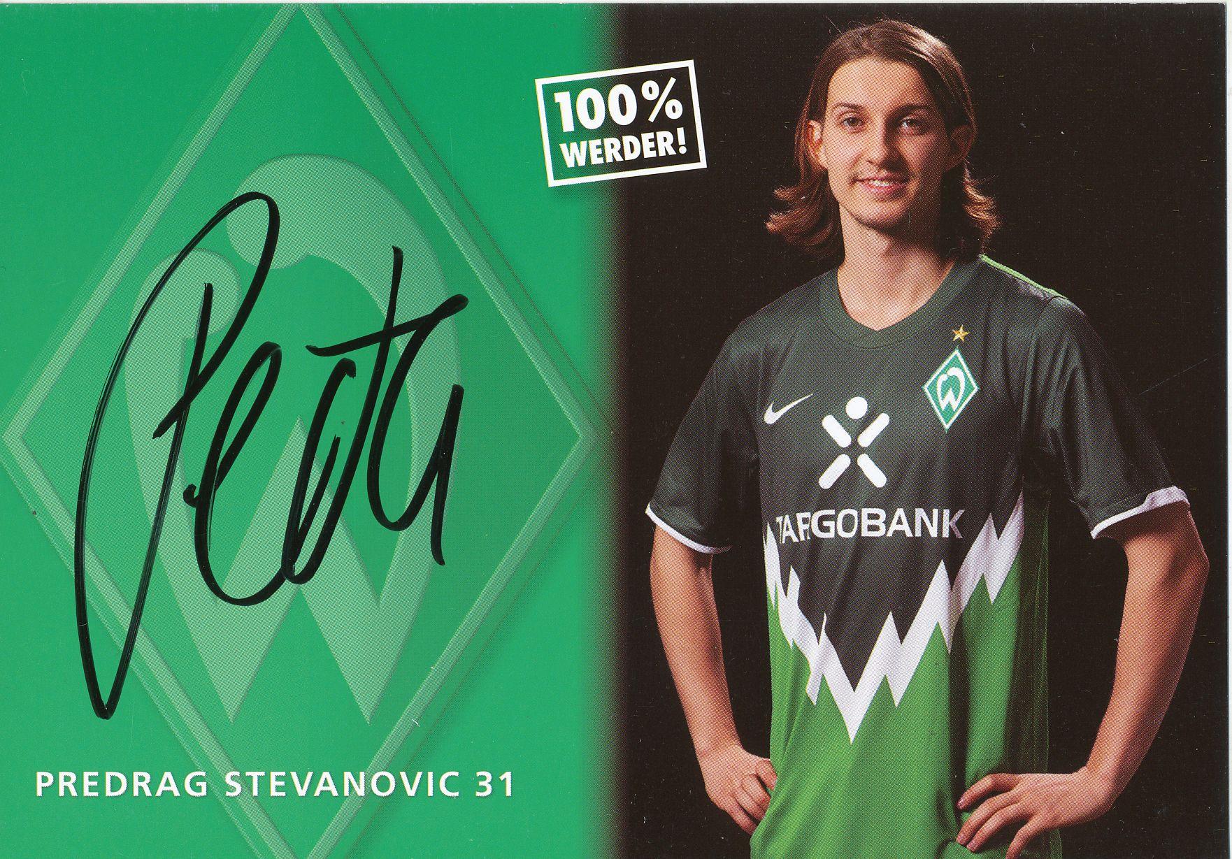 67077 Predrag Stevanovic Werder Bremen 12-13 original signierte Autogrammkarte