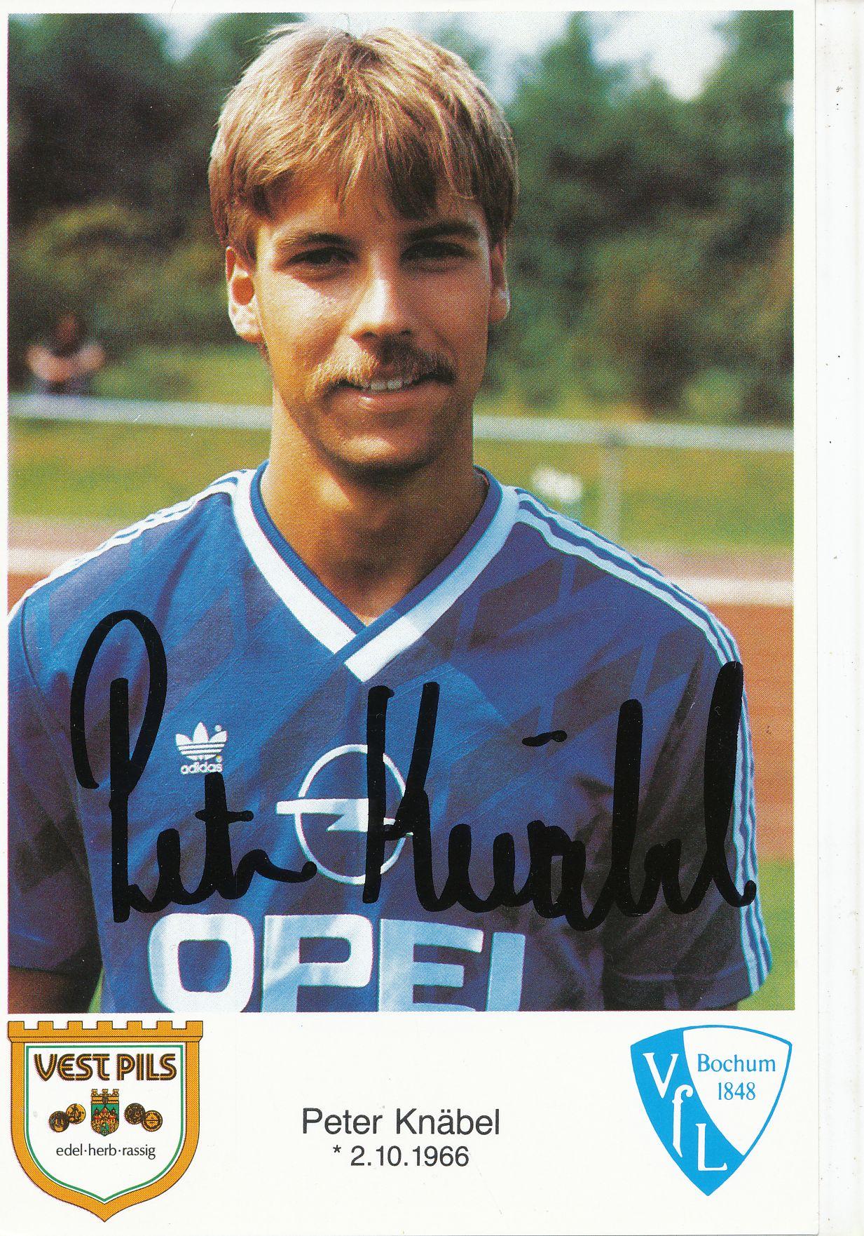 Peter Knäbel Autogrammkarte VFL Bochum 1985-86 Original Signiert A 195065