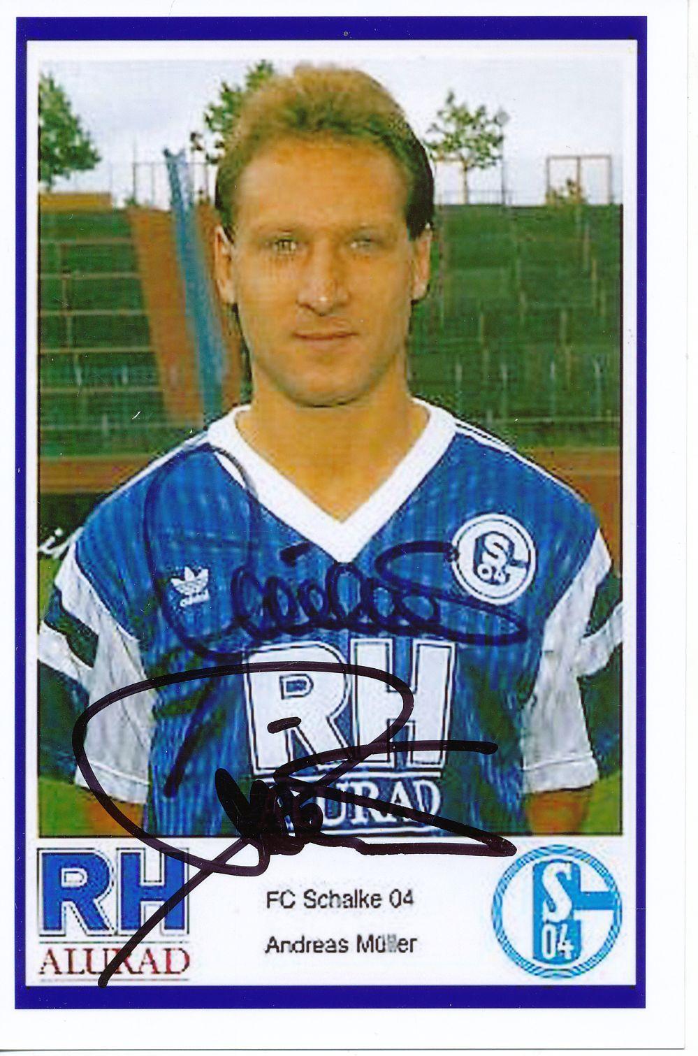Andreas Müller Autogrammkarte FC Schalke 04 1998-99 Original Signiert+A 118814