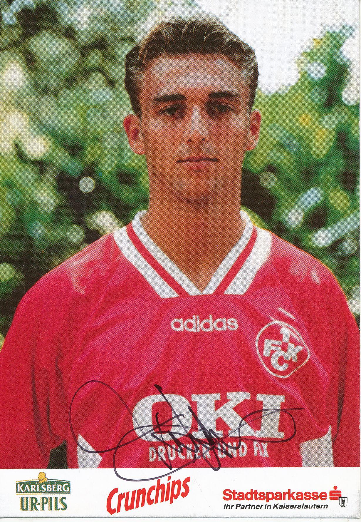 Thomas Hengen Autogrammkarte 1 A 184505 FC Kaiserslautern 1995-96 Original