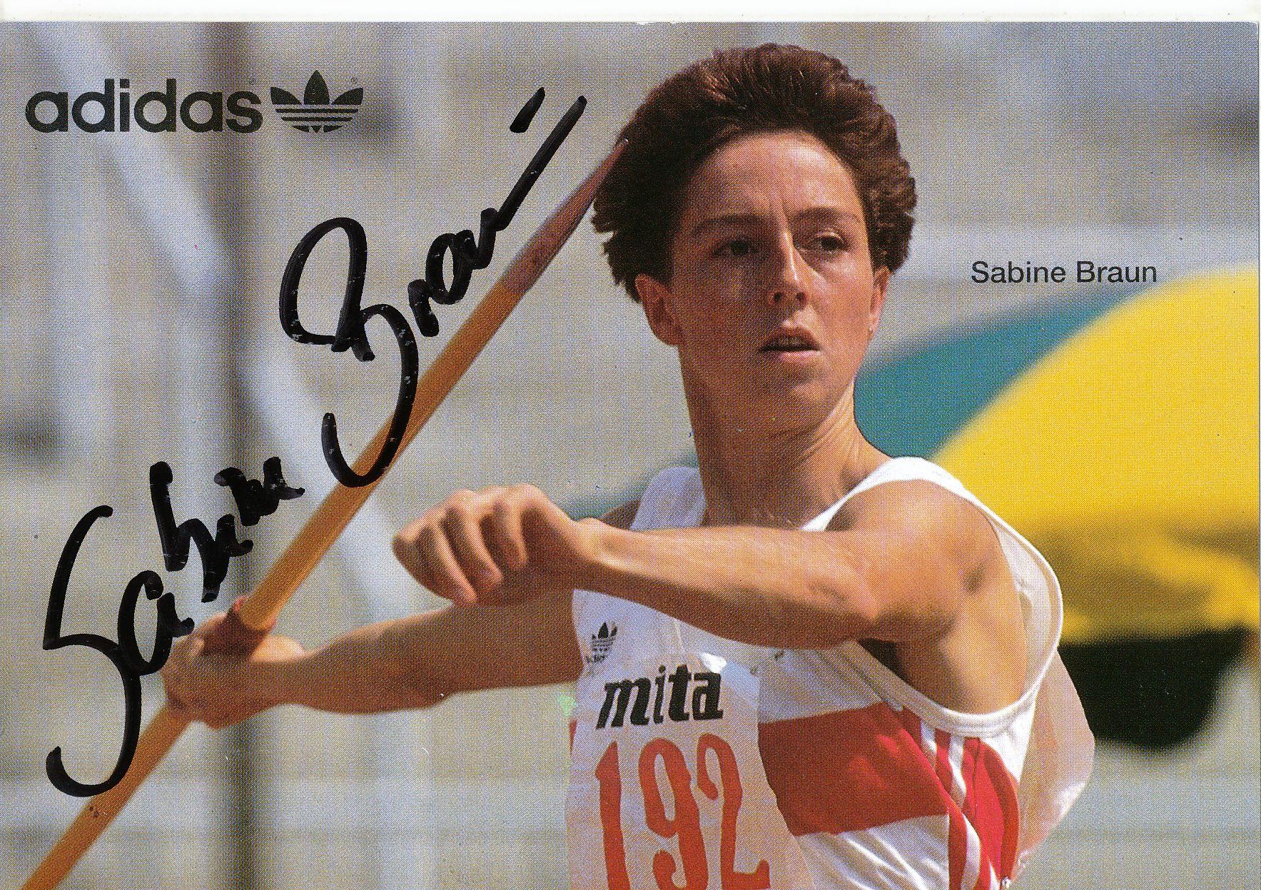Kelocks Autogramme Sabine Braun Leichtathletik Autogrammkarte Original Signiert Online Kaufen