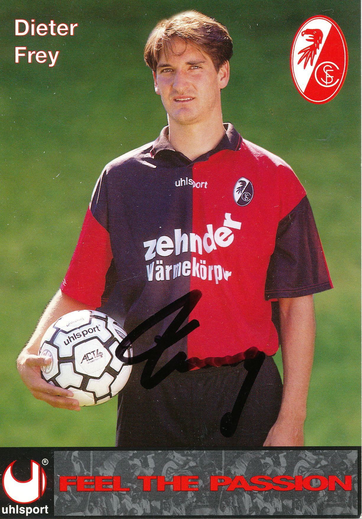 Kelocks Autogramme Dieter Frey 1996 1997 Sc Freiburg Fussball Autogrammkarte Original Signiert Online Kaufen
