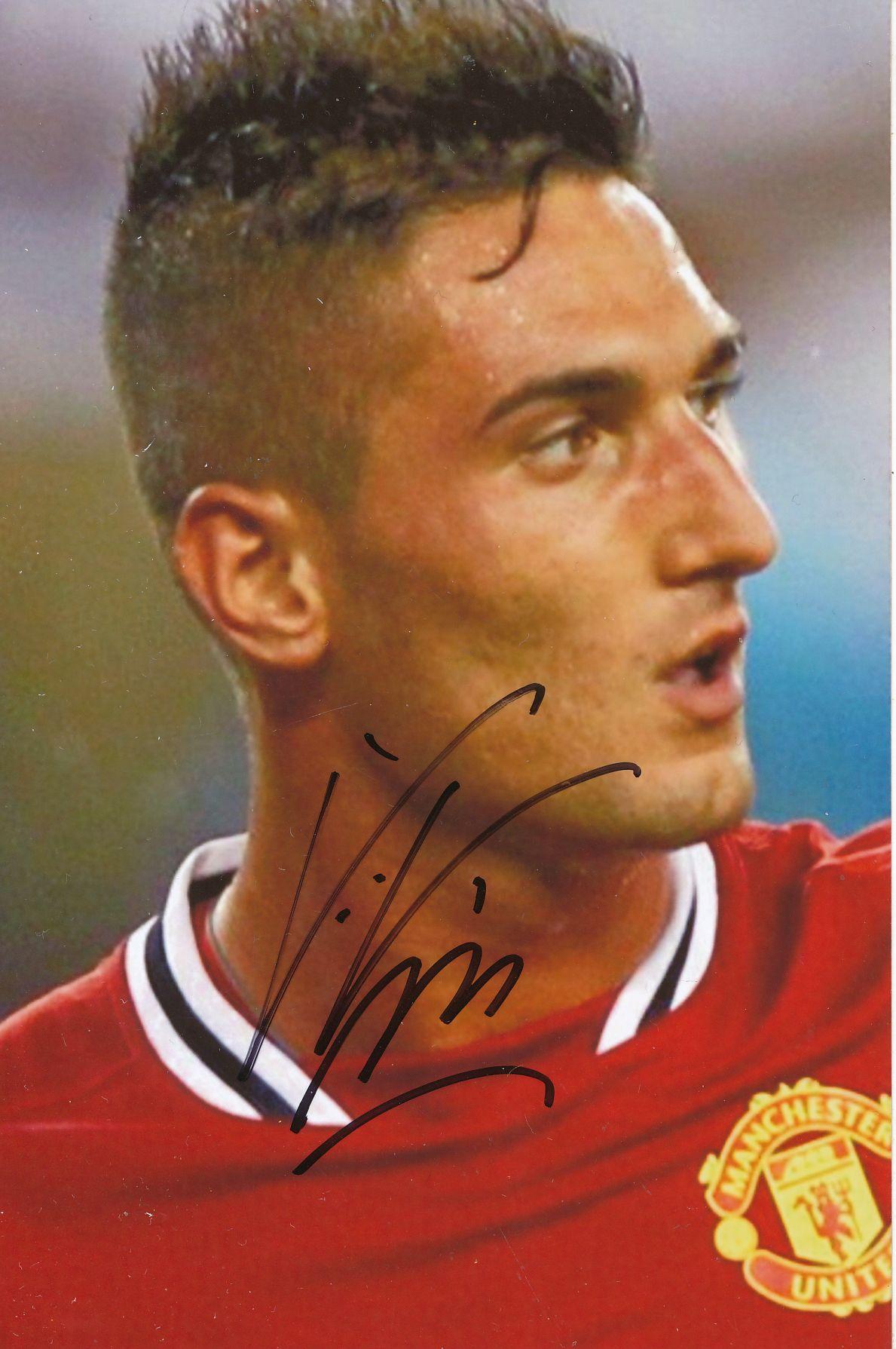 Kelocks Autogramme | Federico Macheda Manchester United Fußball Autogramm  Foto original signiert