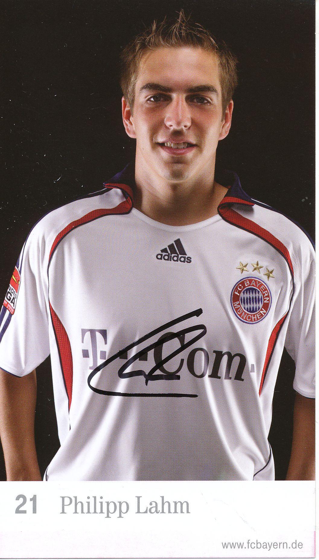 Kelocks Autogramme Philipp Lahm 2006 2007 Fc Bayern Munchen 2010 2011 Fussball Autogrammkarte Original Signiert Online Kaufen